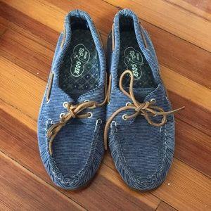 Blue Corduroy Sperry Topsiders Lightly Worn